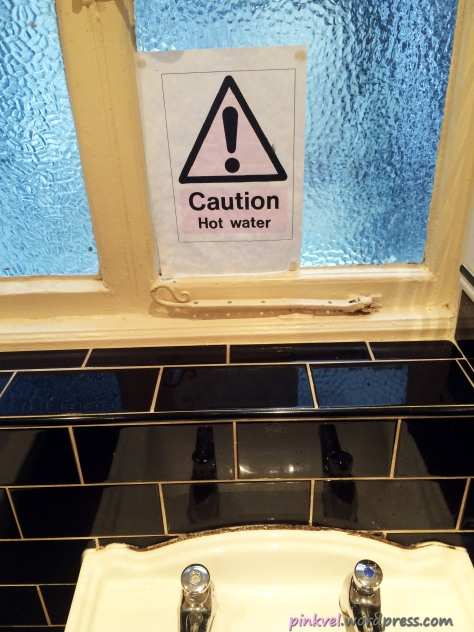 It even tells you to be careful when washing your hands!