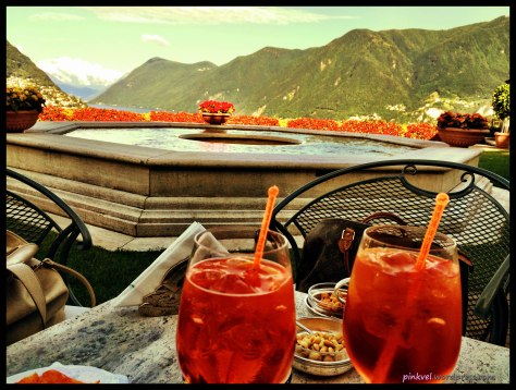 We also had a wonderful Aperitivo with unique view of the lake and the surrounding mountains