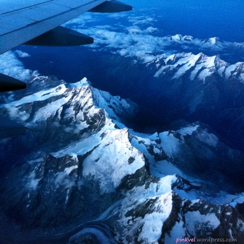 Spectacular flight from Milan to Cologne, overlooking the Swiss Alps